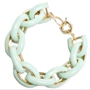 NWOT Mint Enamel Link Bracelet